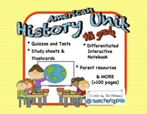 4th Grade American History Unit with Differentiation, Assessments and More
