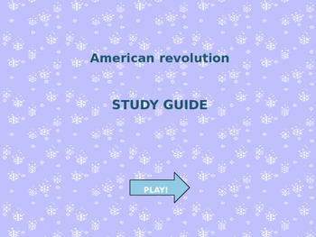 American Revolution PowerPoint Game!