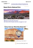 4th Grade Amplify Earth's Features Chapter 1 Lessons 1.1-1.6 Grade 4