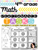 4th Grade Angles & Angle Measurement Performance Tasks 4.MD.5, 4MD.6, 4.MD.7