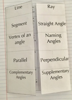 4th Grade Angles Foldable for Interactive Notebooks