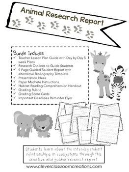 Animal Research Report Project