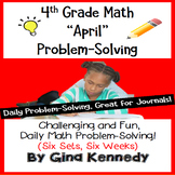 Daily Problem Solving for 4th Grade: April Word Problems (Multi-step)