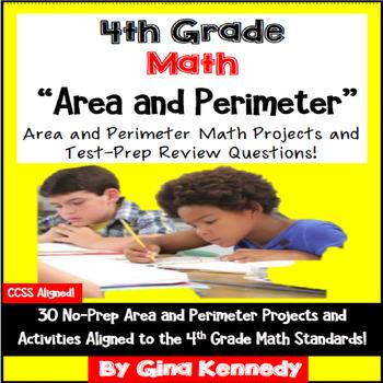 4th Grade Area & Perimeter, 30 Enrichment Projects and 30
