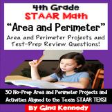 4th Grade STAAR Math Area & Perimeter, 30 Enrichment Proje