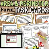 4th Grade Area and Perimeter Task Cards