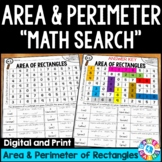 4th Grade Area and Perimeter of Rectangles Math Search {4.MD.3}