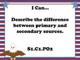 4th Grade Arizona Social Studies Standards Cards