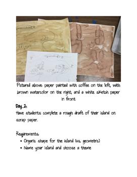 4th Grade Art Lesson: Secret Island Maps
