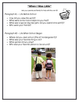 4th Grade Autobiography Project