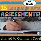 4th Grade BUNDLE of Language Arts Common Core ASSESSMENTS!