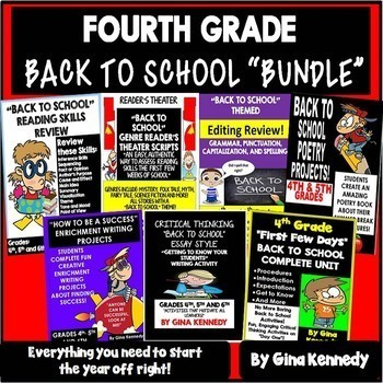 """4th Grade """"Back To School"""" Reading and Writing Bundle!"""