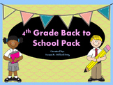 4th Grade Back to School Activity Bundle