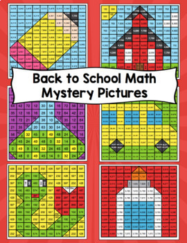 4th Grade Back to School Math Mystery Pictures