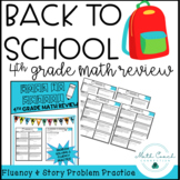 4th Grade Back to School Math Review