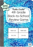 4th Grade Back-to-School Math Review Game