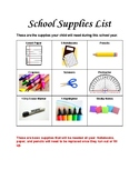 4th Grade Back to School Supply List, Donation, and Letter