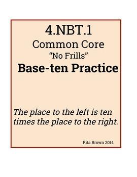 4th Grade Base Ten Practice 4.nbt.1