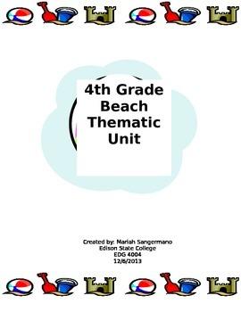 4th Grade Beach Thematic Unit