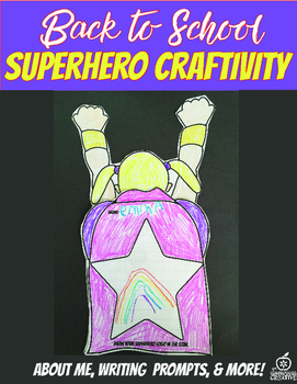 4th Grade Beginning of the Year Flipable Craftivity {Superhero Theme}