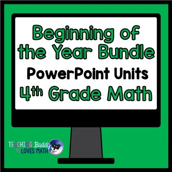 Beginning of the Year Math Unit 4th Grade Common Core Bundle