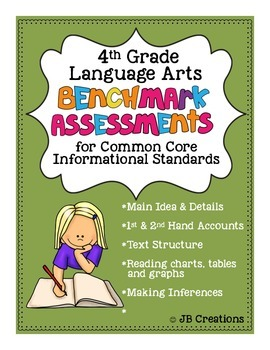 4th Grade Benchmark Assessments for Non Fiction Common Core Standards
