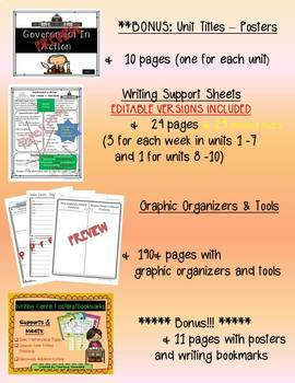 4th Grade Benchmark Writing Resources - EDITABLE Bundle