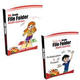4th Grade Book & 3rd & 4th Grade Book (File Folder Math Games) - Bundle