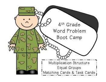 4th Grade Bootcamp - Multiplication Structures Equal Groups Matching Game