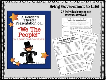 4th Grade Branches of Government Bundle of Hands on Activities!