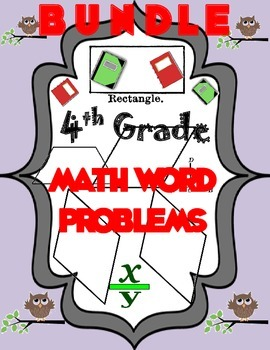 4th Grade Bundle of Word Problems