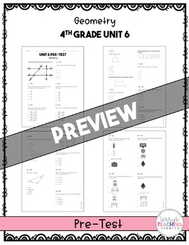 Math Test & Excel Data Sheet Bundle  *4th Grade*