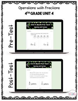 4th Grade Math Test Bundle {Paper and Pencil AND Paperless}