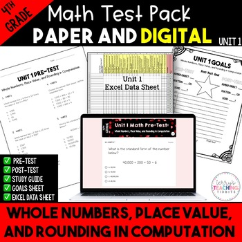 Whole Numbers and Place Value Test Pack *4th Grade* {Unit 1}