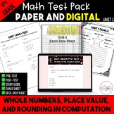 Whole Numbers, Place Value, and Rounding in Computation Test Bundle {4th Grade}
