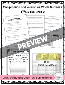 4th Grade Unit 2 Math Test Bundle {Paper/Pencil and Paperless}