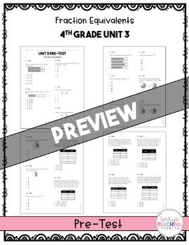4th Grade Unit 3 Math Test Bundle {Paper/Pencil and Paperless}