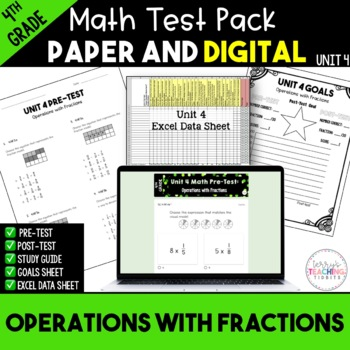4th Grade Unit 4 Math Test Pack {Paper/Pencil and Paperless}