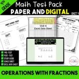4th Grade Unit 4 Math Test Bundle {Paper/Pencil and Paperless}