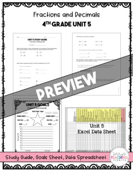 4th Grade Unit 5 Math Test Bundle {Paper/Pencil and Paperless}