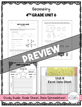 4th Grade Unit 6 Math Test Pack {Paper/Pencil and Paperless}