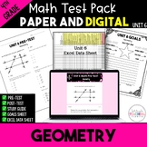 4th Grade Unit 6 Math Test Bundle {Paper/Pencil and Paperless}