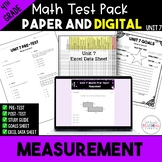 4th Grade Unit 7 Math Test Bundle {Paper/Pencil and Paperless}