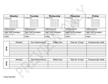4th Grade CCSS Common Core Lesson Plan Template