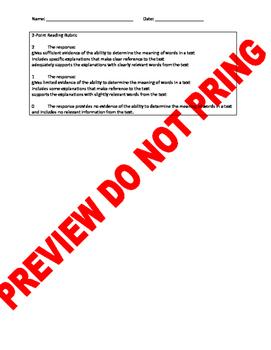 4th Grade CCSS Constructed Response Items: Context Clues