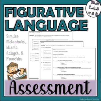 4th Grade CCSS ELA 4.L 5 a&b assessment