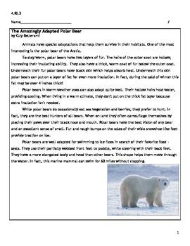 4th Grade CCSS ELA 4.RI.3 Assessment