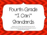 4th Grade CCSS ELA I Can Standards