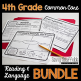 4th Grade CCSS ELA Lessons with Organizers to Use with ANY