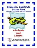 4th Grade CCSS Emergency Sub Plans